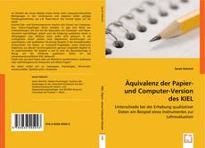 Capa do livro de Äquivalenz der Papier- und Computer-Version des KIEL
