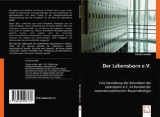 Bookcover of Der Lebensborn e.V.