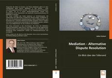 Bookcover of Mediation - Alternative Dispute Resolution