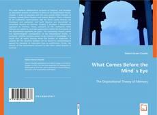 Capa do livro de What Comes Before the Mind`s Eye