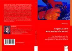 Bookcover of Legalität von Internettauschbörsen