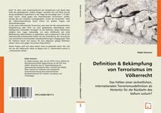 Buchcover von Definition & Bekämpfung von Terrorismus im Völkerrecht