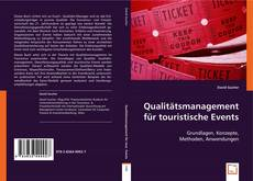 Bookcover of Qualitätsmanagement für touristische Events