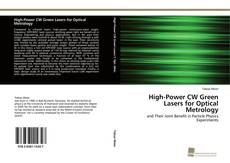 Обложка High-Power CW Green Lasers for Optical Metrology