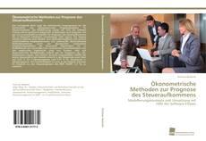 Copertina di Ökonometrische Methoden zur Prognose des Steueraufkommens