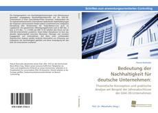 Bedeutung der Nachhaltigkeit für deutsche Unternehmen: kitap kapağı