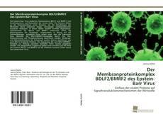 Portada del libro de Der Membranproteinkomplex BDLF2/BMRF2 des Epstein-Barr Virus