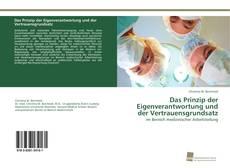 Capa do livro de Das Prinzip der Eigenverantwortung und der Vertrauensgrundsatz