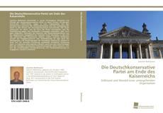 Capa do livro de Die Deutschkonservative Partei am Ende des Kaiserreichs