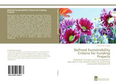 Portada del libro de Defined Sustainability Criteria for Funding Projects