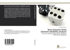 Couverture de Non-intrusive finite element reliability analysis