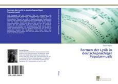 Buchcover von Formen der Lyrik in deutschsprachiger Popularmusik