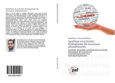 Обложка Synthèse et activités biologiques de nouveaux phosphonates