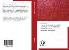 Capa do livro de Transmission du sensible. Autour de la poïétique de l'altérité intime