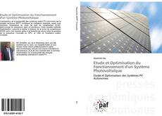 Capa do livro de Etude et Optimisation du Fonctionnement d'un Système Photovoltaïque