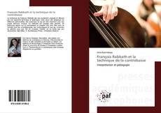 Bookcover of François Rabbath et la technique de la contrebasse