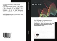 Bookcover of Processus fractionnaires et le calcul de Malliavin