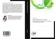 Bookcover of Droit algérien du travail