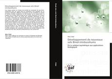 Portada del libro de Développement de nouveaux sels Binol-imidazoliums