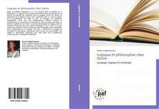 Capa do livro de Logique et philosophie chez Quine