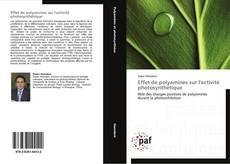 Effet de polyamines sur l'activité photosynthétique的封面