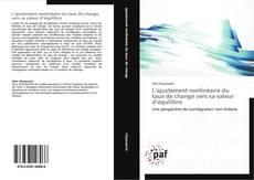 Bookcover of L'ajustement nonlinéaire du taux de change vers sa valeur d'équilibre