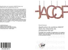 Couverture de Application du système HACCP dans les industries de production du lait