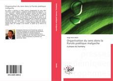 Buchcover von Organisation du sens dans la Parole poétique malgache