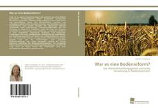 Copertina di War es eine Bodenreform?