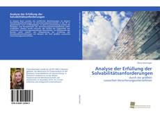 Bookcover of Analyse der Erfüllung der Solvabilitätsanforderungen
