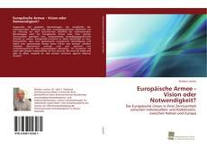 Buchcover von Europäische Armee - Vision oder Notwendigkeit?