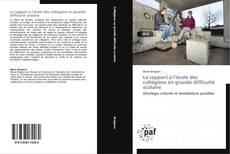 Capa do livro de Le rapport à l'école des collégiens en grande difficulté scolaire