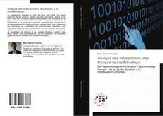 Couverture de Analyse des interactions: des traces à la modélisation