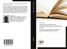 Bookcover of Question prioritaire de constitutionnalité et contrôle a priori
