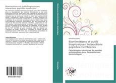 Buchcover von Biomimétisme et outils biophysiques: interactions peptides-membranes