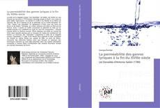 Bookcover of La perméabilité des genres lyriques à la fin du XVIIIe siècle