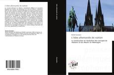 Capa do livro de L'idée allemande de nation