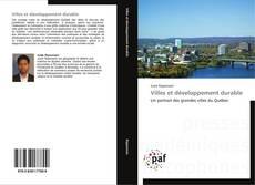 Обложка Villes et développement durable