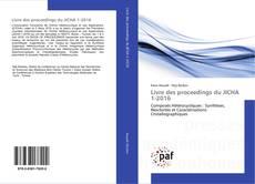 Bookcover of Livre des proceedings du JICHA 1-2016