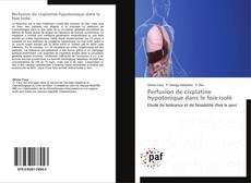 Capa do livro de Perfusion de cisplatine hypotonique dans le foie isolé