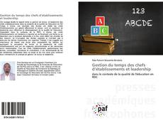 Bookcover of Gestion du temps des chefs d'établissements et leadership