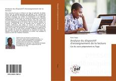 Bookcover of Analyse du dispositif d'enseignement de la lecture