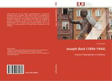 Couverture de Joseph Beck (1894-1944)