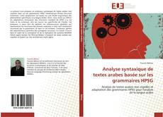 Couverture de Analyse syntaxique de textes arabes basée sur les grammaires HPSG
