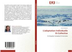 Capa do livro de L'adaptation Individuelle Et Collective