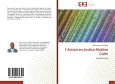 Bookcover of l' Action en Justice Matière Civile
