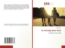 Copertina di Le mariage pour tous