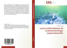 Portada del libro de Lecture philosophique de la phénoménologie organisationnelle