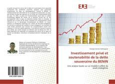 Couverture de Investissement privé et soutenabilité de la dette souveraine du BENIN