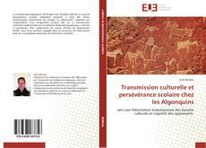 Bookcover of Transmission culturelle et persévérance scolaire chez les Algonquins